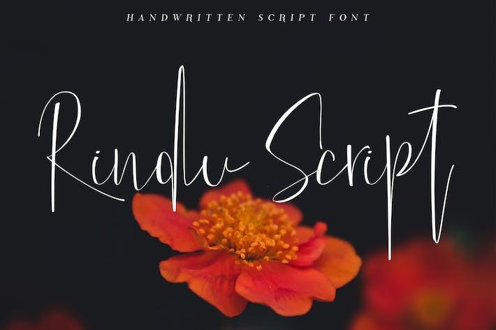 Thumbnail for Fuente de escritura de rindu