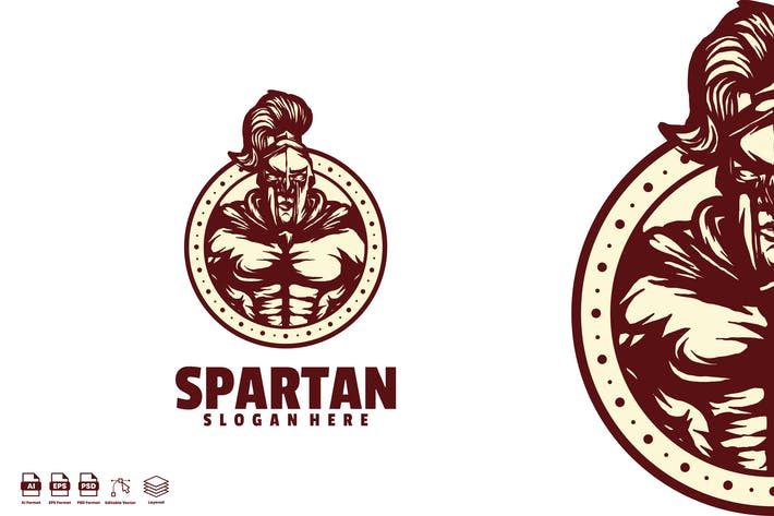 Thumbnail for spartan angry logo template