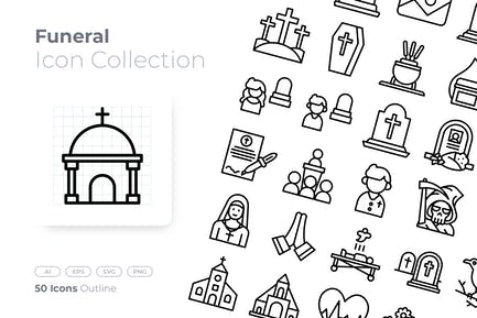 Funeral Outline Icon
