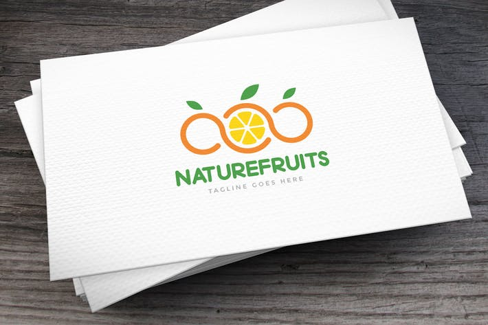 Natural Fruits Logo Template