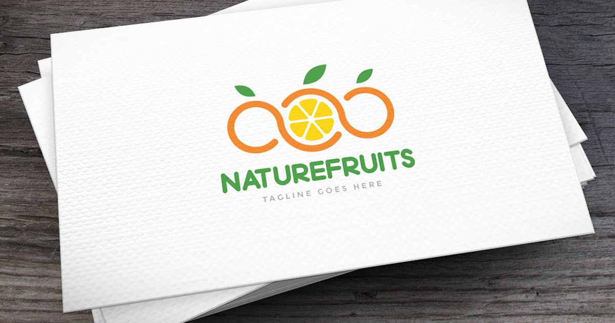 Download Natural Fruits Logo Template by empativo