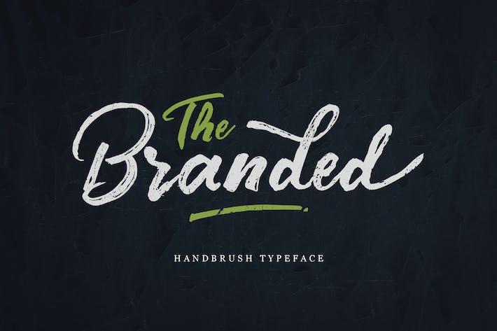 Thumbnail for Branded Handbrush Font