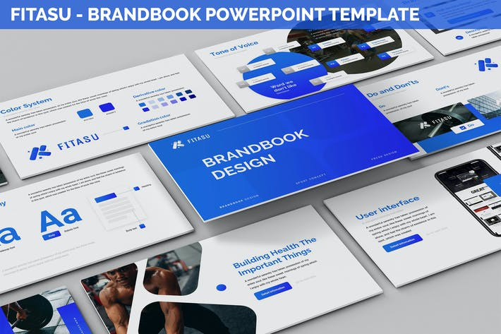 Thumbnail for Fitasu - Brandbook Powerpoint Template