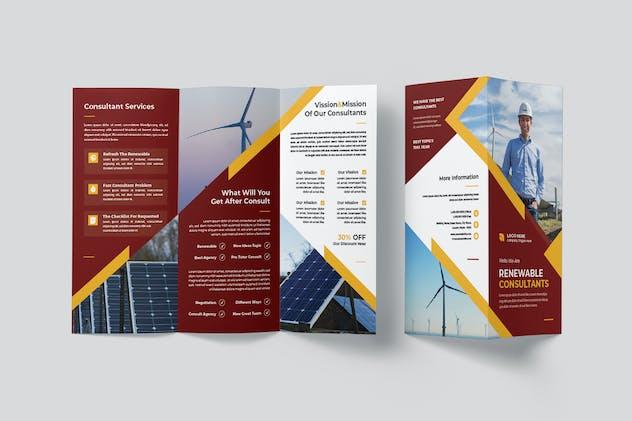 Renewable Energy Consultants Trifold Brochure