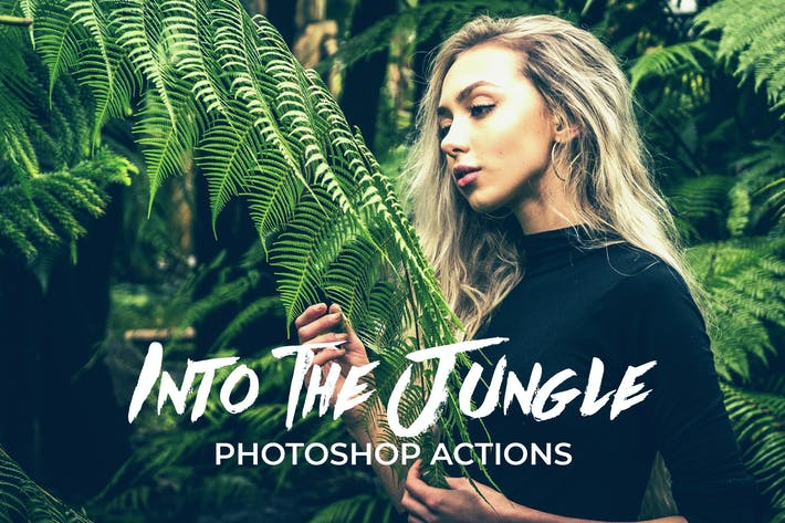 Cover Image For En la selva Acciones de Photoshop