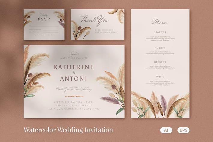 Thumbnail for Invitation de mariage aquarelle