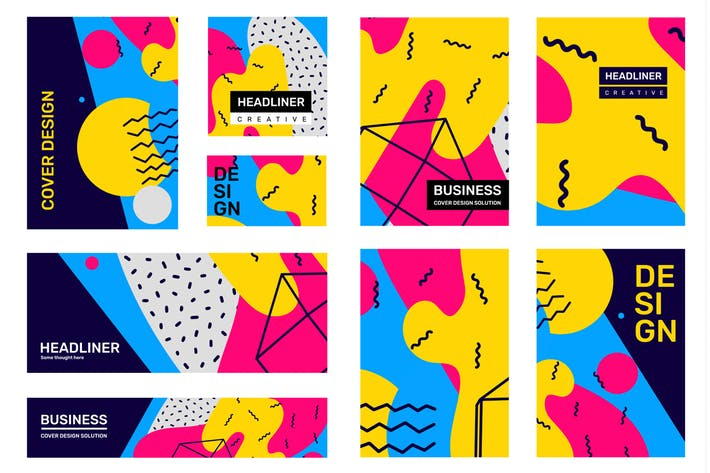 Thumbnail for Big set of creative abstract illustrations