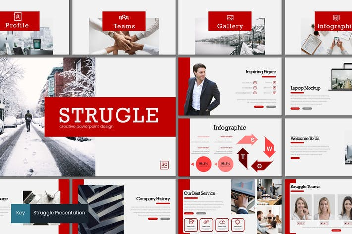 Thumbnail for Struggle - Keynote Template