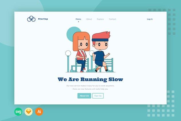 Running - Website Header - Illustration