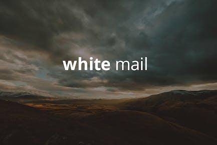 White Mail - Modèle de courrier électronique réactif