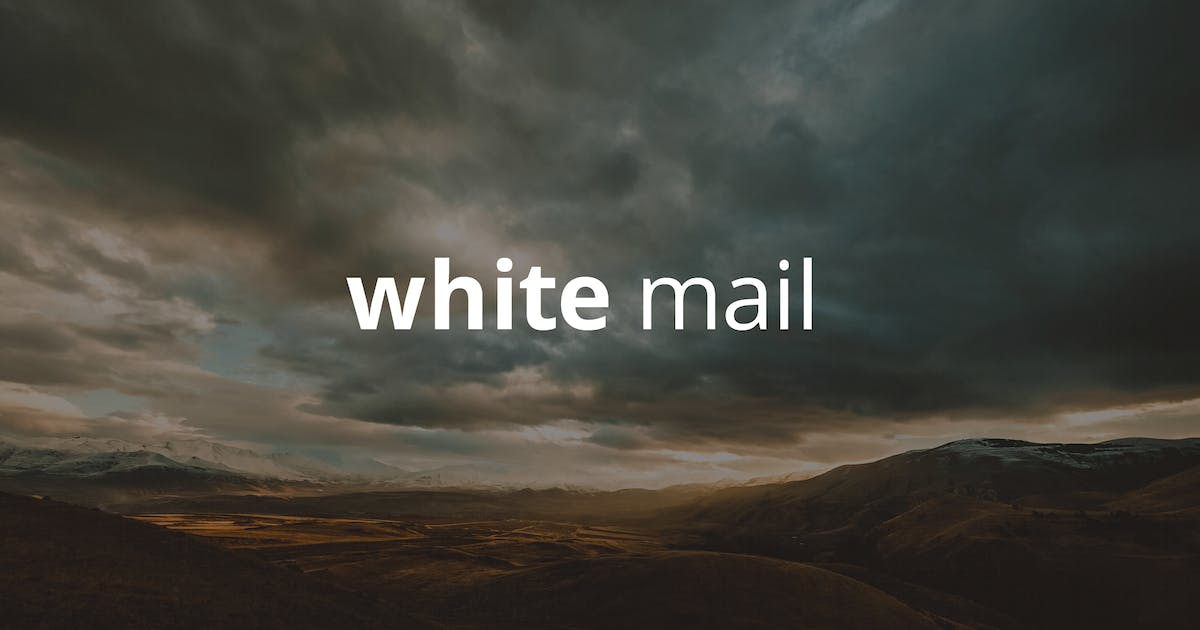 Download White Mail - Responsive E-mail Template by williamdavidoff