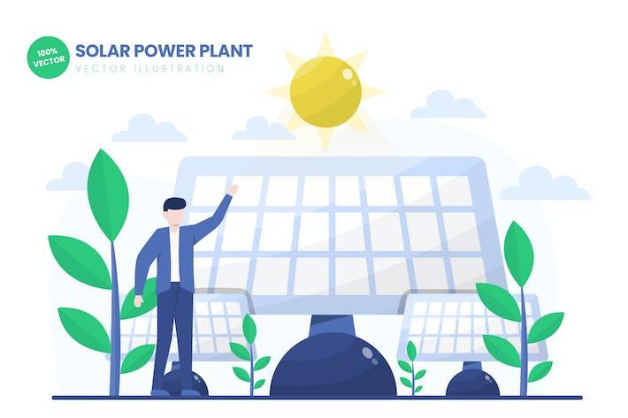 Thumbnail for Solar Power Plant Flat Vector Illustration