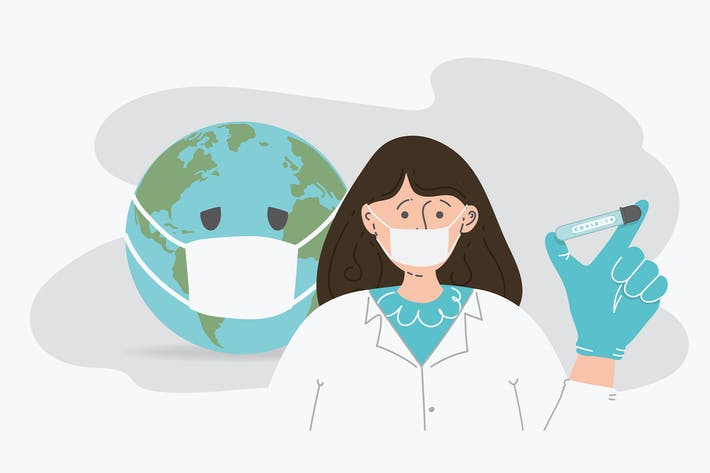 doctor protect from coronavirus.