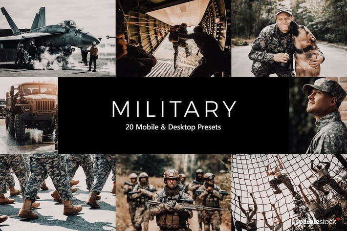 20 Military Lightroom Presets & LUTs