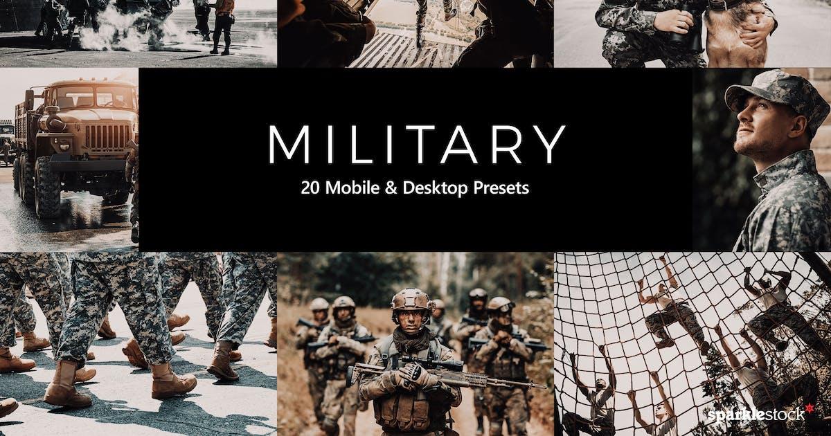 Download 20 Military Lightroom Presets & LUTs by sparklestock