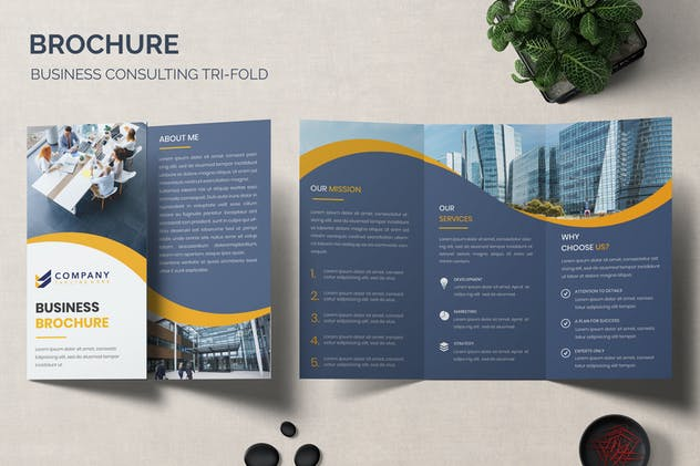 Brochure - Business Consulting Tri-Fold Template