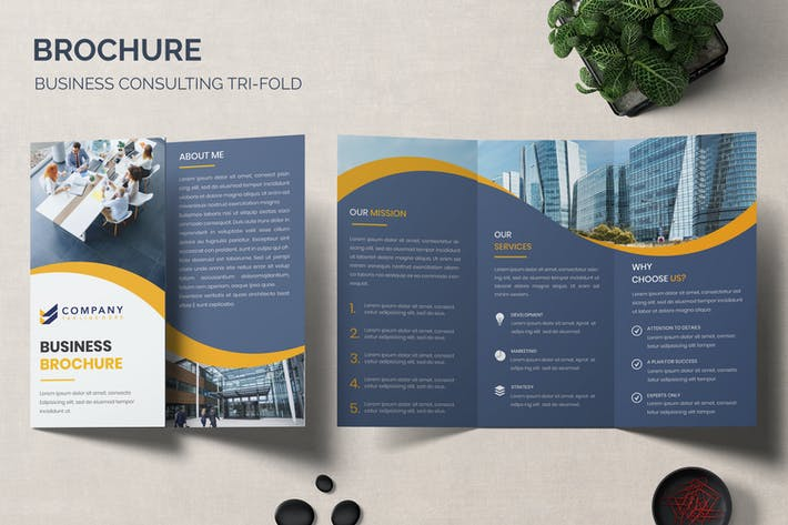 Thumbnail for Brochure - Business Consulting Tri-Fold Template
