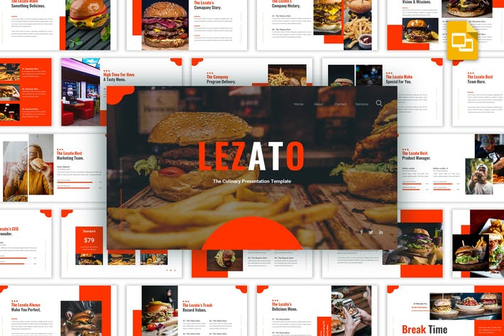 Thumbnail for Lezato - Culinary Google Slides Template