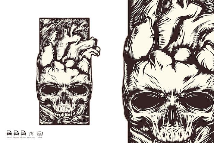 Thumbnail for skull heart
