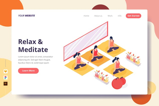 Relax & Meditate - Landing Page