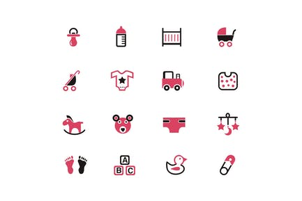 16 Baby Product Icons