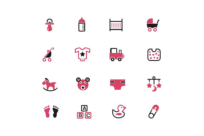 Thumbnail for 16 Baby Product Icons