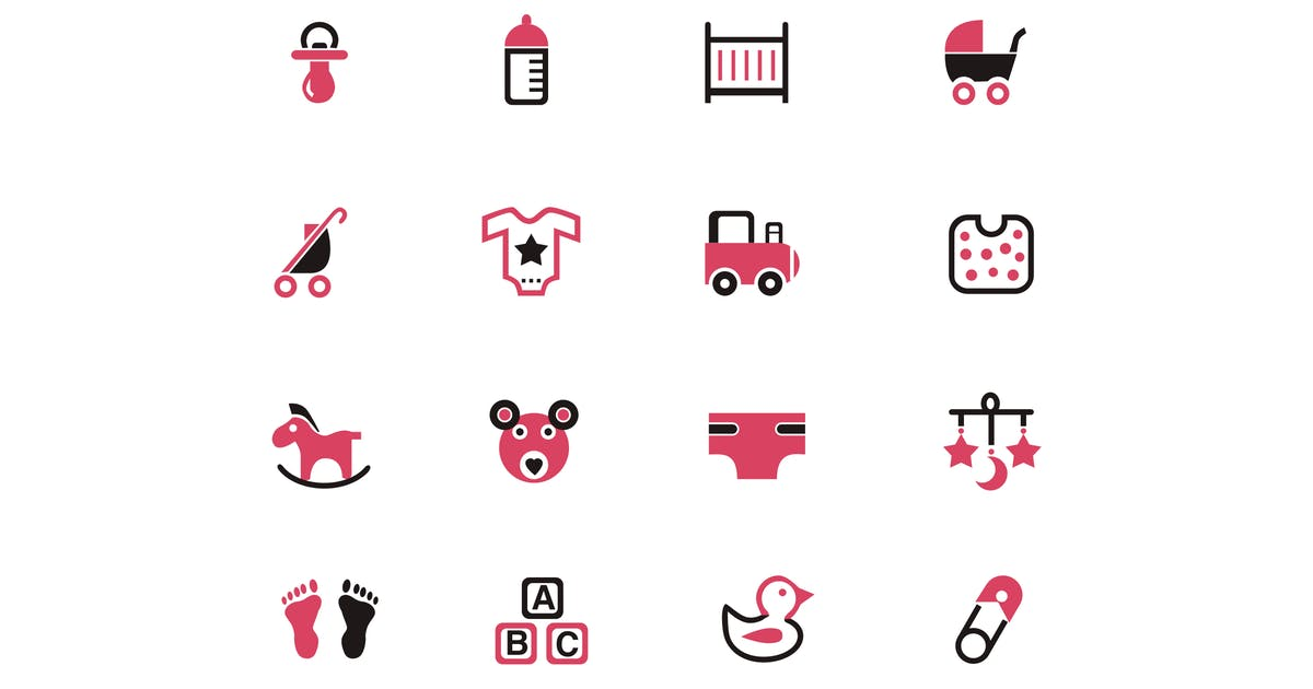 16 Baby Product Icons by creativevip
