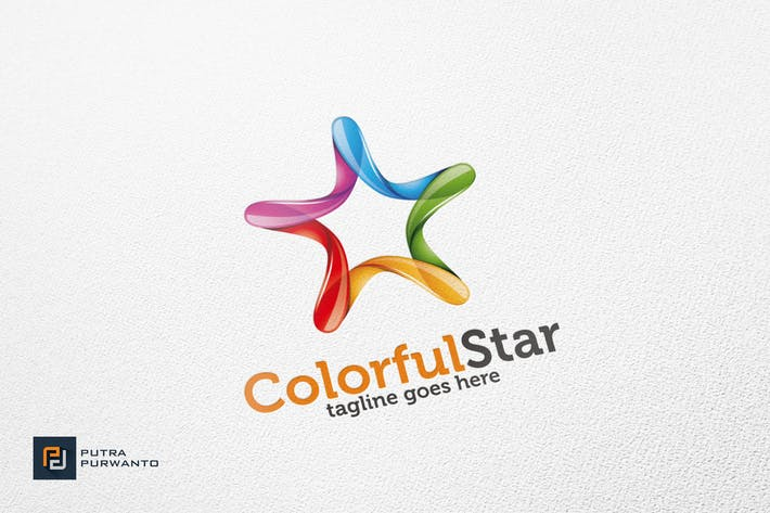 Thumbnail for Colorful Star - Logo Template