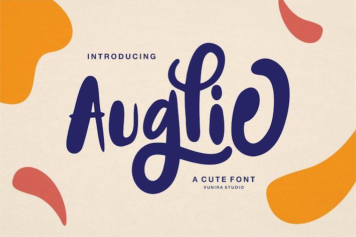 Auglie | Une police mignonne