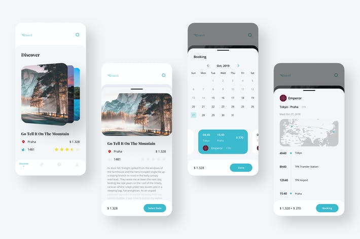 Thumbnail for Travel Booking Tour Ui - FP