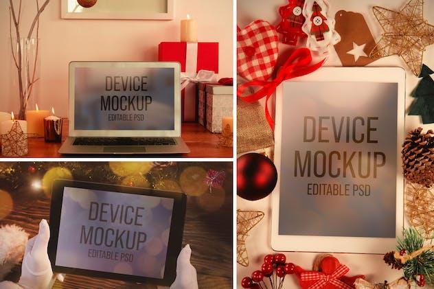 Christmas Device Screen Mockup Set