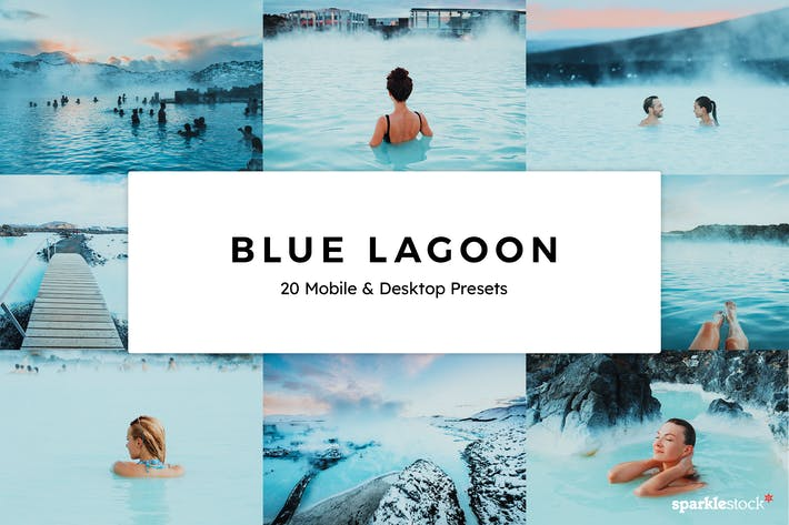 20 Blue Lagoon Lightroom Presets & LUTs