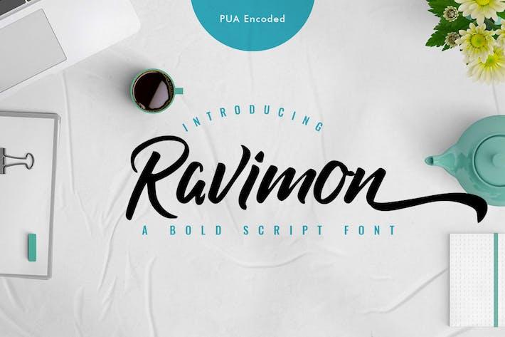 Thumbnail for Ravimon - Solid Handbrush Font