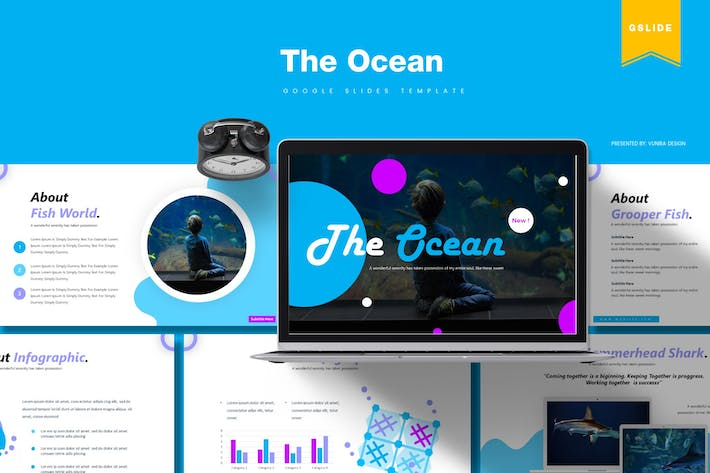 Thumbnail for The Ocean | Google Slides Template