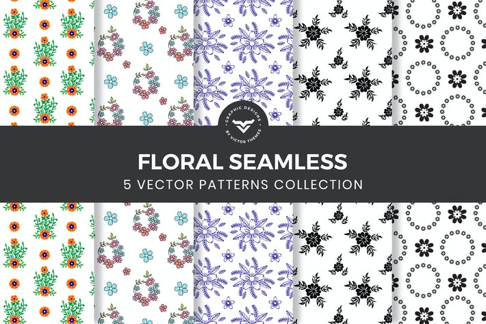 Cover Image For Floral Seamless Pattern