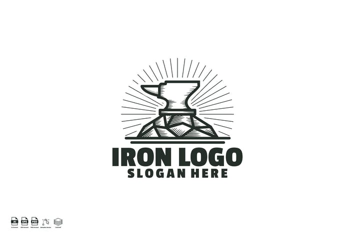 Iron logo template