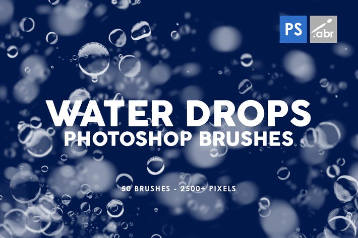 Thumbnail for 50 Water Drops Photoshop Stamp Brushes