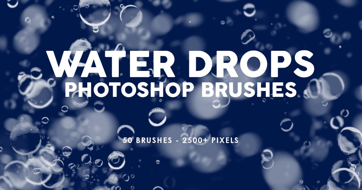 Download 50 Water Drops Photoshop Stamp Brushes by M-e-f