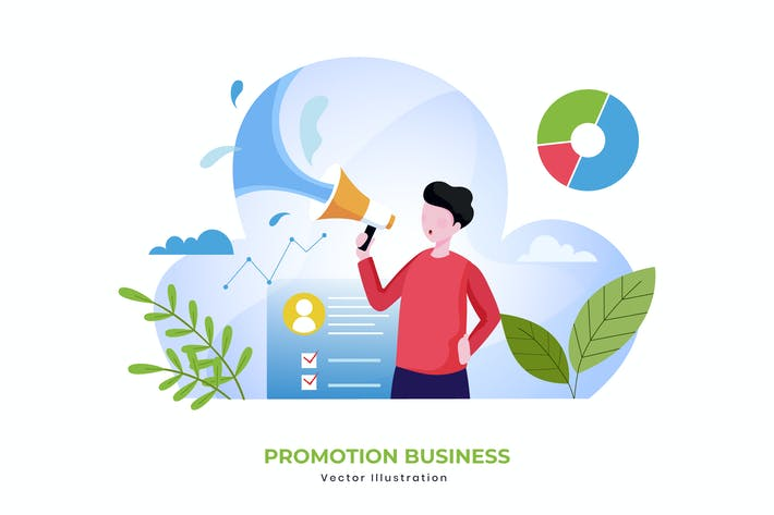 Thumbnail for Promotion business vector illustration
