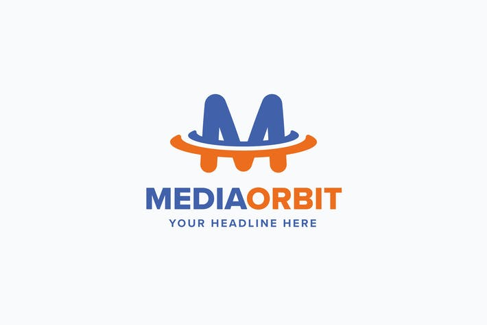 Thumbnail for Media Orbit M Letter Logo Template