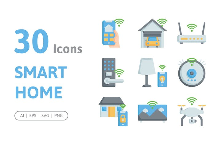 30 SmartHome-Ikonen