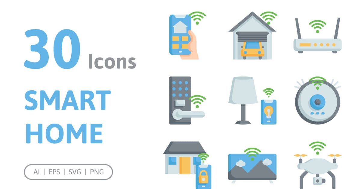Download 30 Smart Home Icons by konkapp