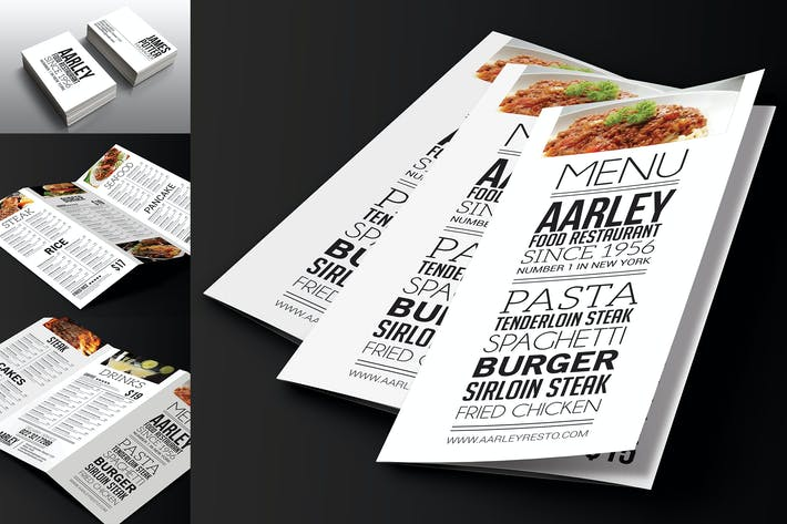 Thumbnail for Simple Typography Trifold Menu