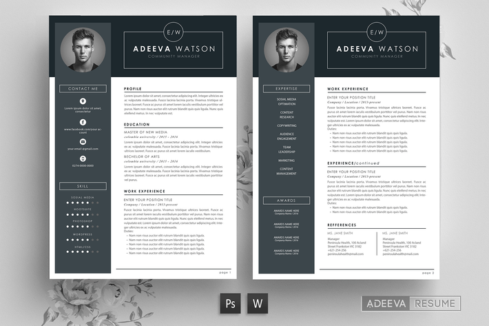 Thumbnail for Professional Resume Template Watson
