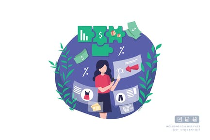 Market analysis - Ilustration template