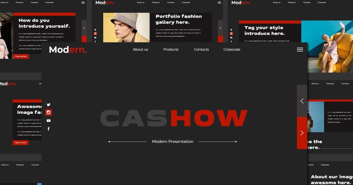 Download CASHOW Keynote Template by axelartstudio