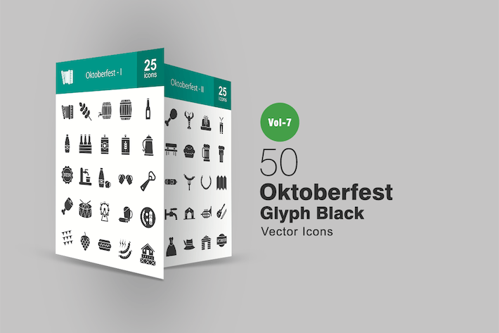Thumbnail for 50 Oktoberfest Glyph Icons