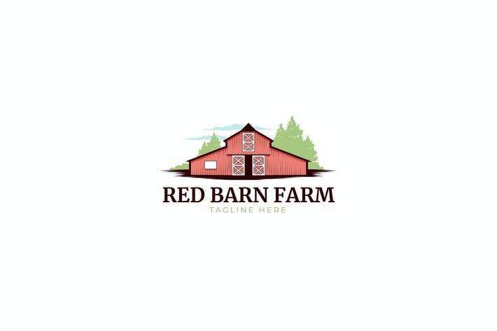 Thumbnail for Red Barn Farm Logo template