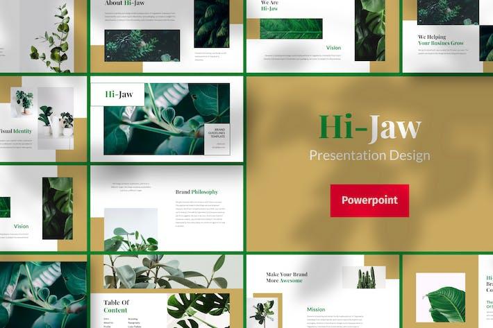 Thumbnail for Hi-Jaw - Шаблон дизайна презентации Powerpoint