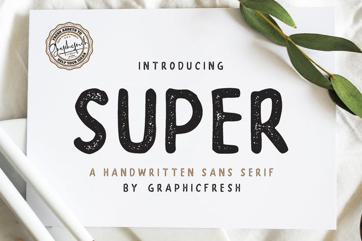Thumbnail for SUPER - A Handwritten Sans Serif